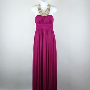 Vintage City Triangles deep fucshia evening gown